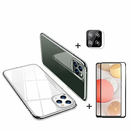 DoAo Funda de silicona transparente compatible con Xiaomi Mi Mix 2, 1 protector de pantalla y 1 protector de lente de cámara compatible con Xiaomi Mi Mix 2-Blanco