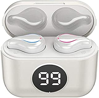 Tung bas hörlurar öronsnäckor hörlurar Snygga bärbara trådlösa hörlurar, Bluetooth 5.0 Stereohörlurar True Wireless In-Ear...