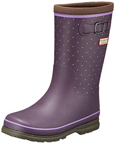 [ヒロミチナカノ] レインブーツ 靴 防寒 防滑 ゆったり 19~23cm キッズ HN WJ172R パープルドット 21 cm 2E
