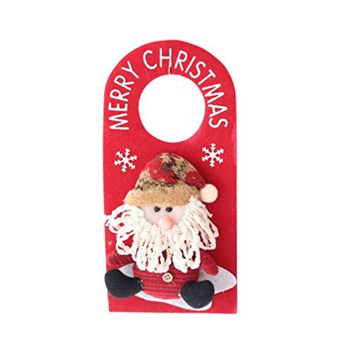 Happyyami Weihnachtstürknaufaufhänger Sankt-Türaufhänger Weihnachtstürdekoration verziert hängende Weihnachtsverzierung