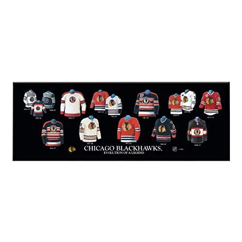 Winning Streak Sports NHL Chicago Blackhawks Legacy Uniform Plaque - Room Decor for Sports Fans