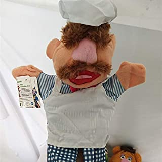 natugochi The Muppet Show Plush Hand Puppets, The Frog,Fozzie Bear,Drummer,The Swedish Chef, Doll for Kids Toy Dolls Must-Have Friendship Gifts The Favourite DVD Superhero UNbox Switch (White)