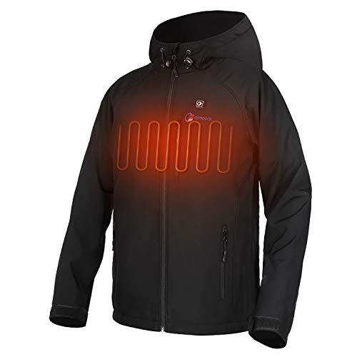 OUTCOOL Beheizte Jacke Herren Beheizbare Heizjacke mit Akku zum Outdoor Arbeiten Tägliches Tragen (XL)