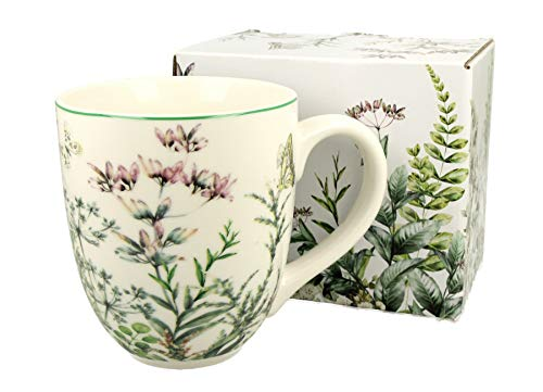 Duo Taza grande XXL Wild Flower 2, decoración folclórica, 900 ml, porcelana, taza para smoothies, regalo de oficina, taza para café, taza de té, capuchino, taza jumbo taza gigante XXXL