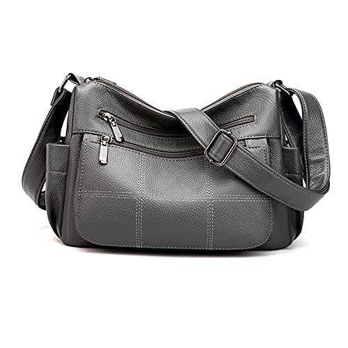 Oichy Crossbody bolsa para mujer multi bolsillos bolso de hombro suave pu cuero Messenger bolso