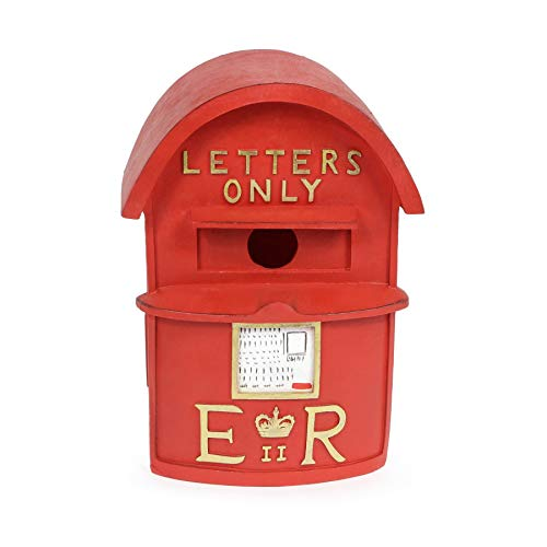 Wrenbury Post Box Bird Box Nesting Box Bird House for Small Birds | Traditional Letterbox Design | Weather Resistant UV Resin | Perfect for Robins, Wrens, Finches, Blue Tit and Sparrows