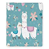 Armuprint Alpaca Printed Animal Blanket Llama Gifts for Women 60x80 inches for Sofa Office Camping