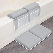Bath Kneeler with Elbow Rest Pad Set, 1.5 inch Thick Kneeling Pad and Elbow Support for Knee & Arm Support Large Bathtub Kneeling Mat with Toy Organizer for Happy Baby Bathing Time