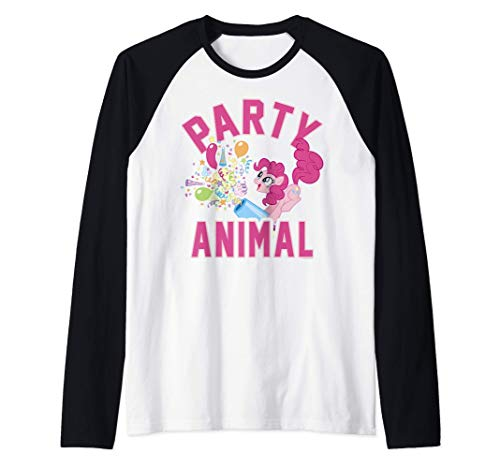 My Little Pony: Friendship Is Magic Pinkie Pie Party Animal Camiseta Manga Raglan