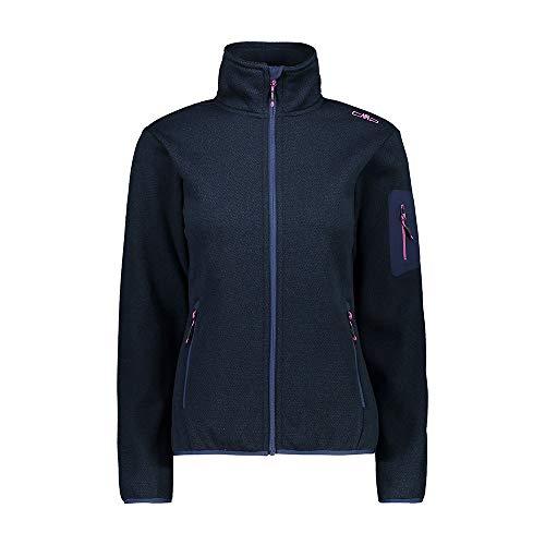 CMP Damen Strickjacke für Frauen mit Kapuze 30H6996 Jacke, Blue, D36