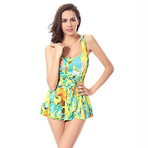 UR MAX BEAUTY Damskie jednoczęściowe stroje kąpielowe strój kąpielowy sukienka pod brzuch kontrola stroje kąpielowe wyszczuplające strój kąpielowy a XL