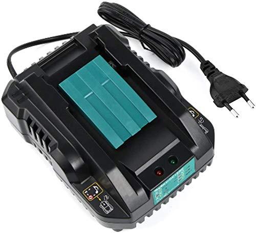 TPDL Cargador de 4,0 A para Makita DC18RC cargador rápido para baterías deslizantes de 14,4 V y 18 V (enchufe europeo).