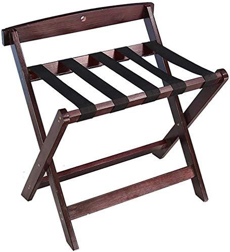 %54 OFF! QTQZDD Room Luggage Holder, Hotel Solid Wood Folding Luggage Rack, Travel Break Folding Sto...