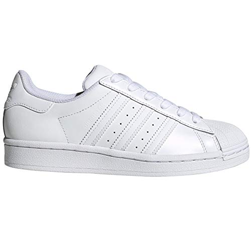 adidas Superstar 80s W Weiß und Pink. Schuhe Damen Sneakers Leather (38 2/3 EU, Cloud White/Cloud White Pr)