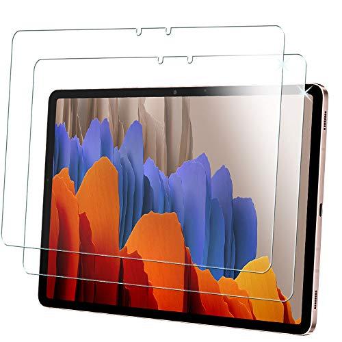 TECHGEAR [2 Piezas] Vidrio Compatible con Samsung Galaxy Tab S7 11.0' 2020 (SM-T870 / SM-T875) Protector de Pantalla Vidro Templado [Dureza 9H] [Alta Definición][Resistente arañazos] [Sin Burbuja]