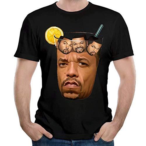 Preisvergleich Produktbild SOTTK Sportbekleidung Herren Kurzarmshirt,  Men's Ice T & Ice Cube Soft Short Sleeve T Shirt Black