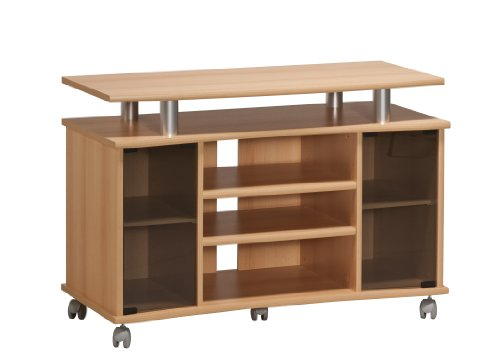 MAJA-Möbel 7362 4831 TV-Rack, Buche-Nachbildung - Alu-Optik, Abmessungen BxHxT: 99,7 x 67,6 x 45 cm