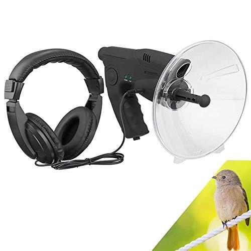 NFY Micrófono Direccional Parabólico, X8 Monocular Bionic Oído Largo Alcance Aves Escucha Telescopio, Amplificador Espía Oído De Largo Alcance Dispositivo para Pesca, Herramientas de Camping