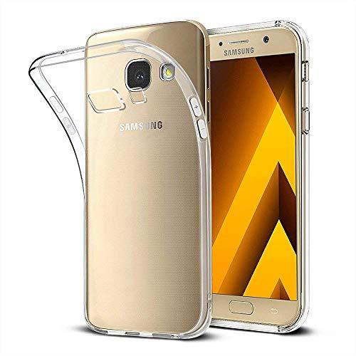 wsky Handyhülle für Samsung Galaxy A3 2017 Hülle Transparent, Ultra Dünn Silikon Handyhülle, Kratzfest Stoßdämpfend Anti-Gelb Durchsichtige Cover Hülle, Crystal Clear Schutzhülle