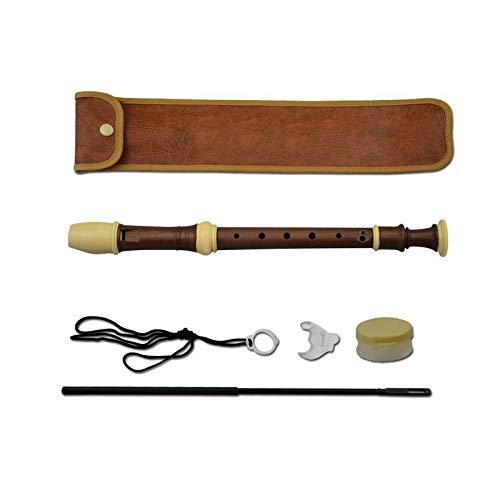 KOUPA Grabadora de Soprano de Madera Instrumento Clave G, con Estuche rígido, Grasa para Juntas, Tabla de digitación y Kit de Limpieza, Mini armónica, para niños