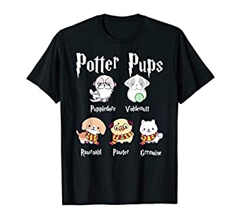 Harry Pawter Cute Puppy Dogs Potter Pups Gifts For Her T-Shirt