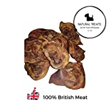 Natural Treats | Pork Ear Crunch (Inner Ear) (2kg) | British <span class='highlight'>UK</span> Natural Deliciously Healthy Dog Treat for Dog Puppy Senior Adult