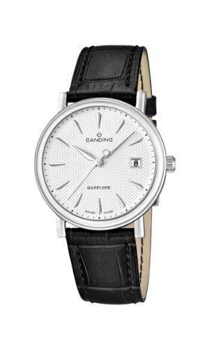 Candino Herren Analog Quarz Uhr mit Leder Armband C4487/2