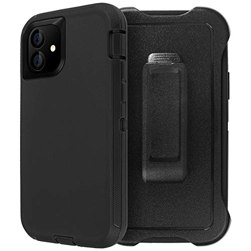 """AICase for iPhone 11 Belt-Clip Holster Case (6.1""""), Full Body Rugged Heavy Duty Case, Shock/Drop/Dust Proof 4-Layer Protection Durable Cover for Apple iPhone 11 6.1-inch"""