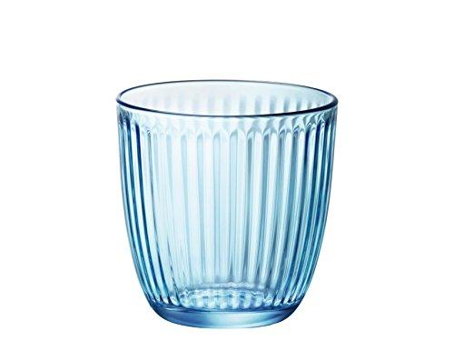 Bormioli - Pack 6 vasos Line Acqua azul