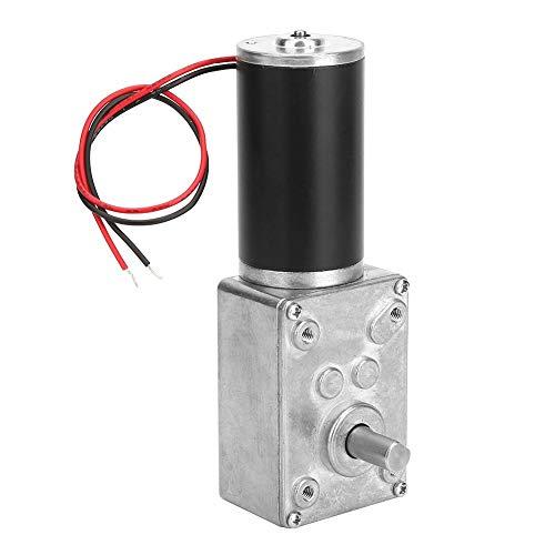 Motoriduttore a vite senza fine, alta velocità di torsione Ridurre il cambio elettrico Motore reversibile Albero 8mm 24V(50RPM)