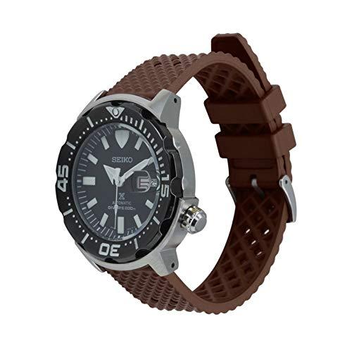YUSWPX Nuevo Fluoro Goma Reloj de Reloj 18 mm 20 mm 22 mm Honeycomb Wheamband para Seiko Black Reemplazo de la Banda de muñeca de Buceo Correas Impermeables (Band Color : Brown, Band Width : 20mm)