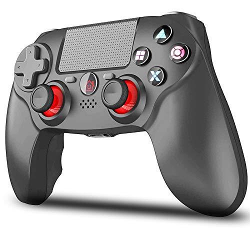【2021最新FPS改良型】VOVAQI PS4 コントローラー ワイヤレス 1000mAh大容量 最新バージョン ゲームパット Bluetooth リンク遅延なし イヤホンジャック ジャイロセンサー機能 タッチパット搭載 二重振動 高耐久ボタン DUALSHOCK 4代用 PS3 コントローラー 日本語取扱説明書 ブラック