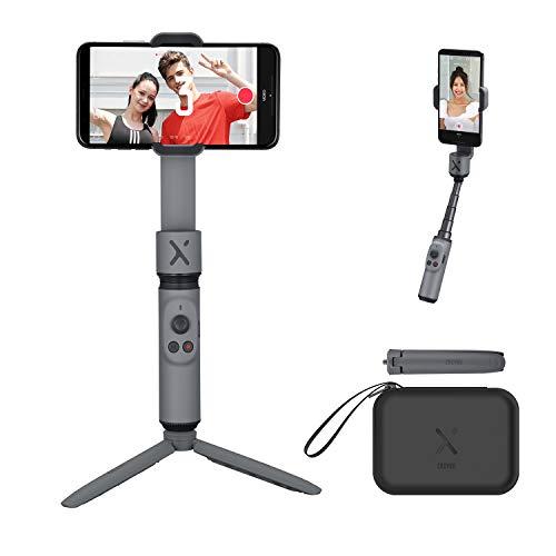 ZHIYUN Smooth-X [Offiziell] Faltbarer Smartphone Gimbal Stabilisator Selfie Stick Vlog Youtuber (Grau Combo)