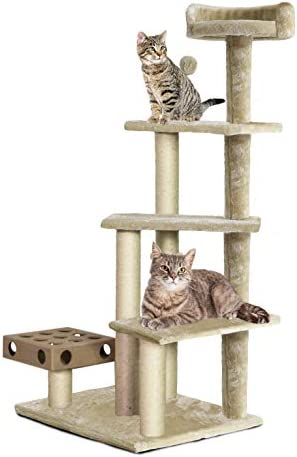 Furhaven Pet Cat Tree Tiger Tough Cat Tree House Perch Entertainment Playground Furniture For Cats And Kittens Play Stairs Cream Buy Online At Best Price In Uae Amazon Ae