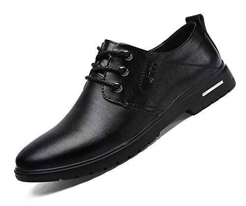 MOHEM Mens Dress Shoes Darren Men's Casual Premium Genuine Leather Lace-up Oxford Shoes(1687008Brown44)