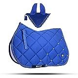 Gallop Shop Tapis de selle pour cheval Bleu roi avec...