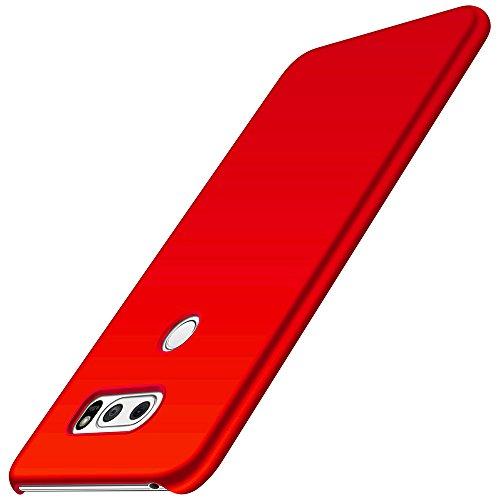 LG V30 Hülle, Anccer [Serie Matte] Elastische Schockabsorption & Ultra Thin Design für LG V30/LG V30 Plus/LG V30S ThinQ/LG V35/LG V35 ThinQ (Glattes Rot)