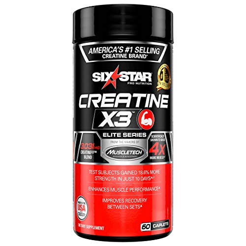 Six star elite creatine x3 post workout recovery pills image