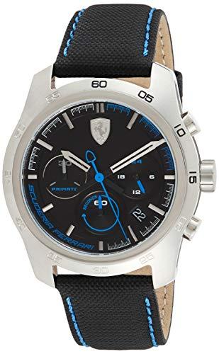 Scuderia Ferrari Herren Chronograph Quarz Uhr mit Leder Armband 830445