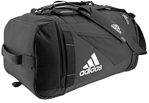 adidas Unisex Utility LAX Backpack Duffel, Black/Silver, ONE SIZE
