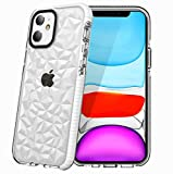 Superyong for iPhone 11 Case,iPhone 11 3D Diamond Bling Case,Cute Aesthetic Crystal Clear Slim Soft TPU Anti-Scratch Shockproof Protective Cover for Women Girls Men Boys with iPhone 11 6.1 Inch-White