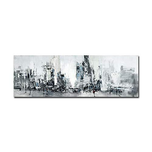 FajerminArt - Lienzo decorativo moderno con diseño abstracto, pintura al óleo, cuadro de pared para sala de estar, sofá, decoración del hogar (sin marco ni estructura)