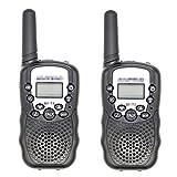 ZRNG 2 unids Apto para BAOFENG Mini WALKIE Talkie NIÑOS Radio BF-T3 2W UHF462-467 (MHz) Radio de Dos vías Radio portátil Radio Regalo para niños (Color : Black)