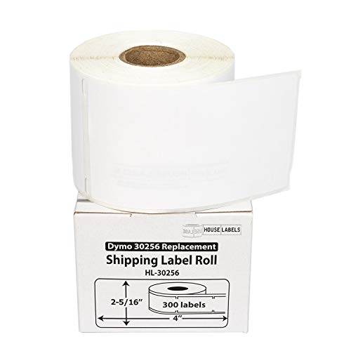"""HOUSELABELS Compatible DYMO 30256 Shipping Labels (2-5/16"""" x 4"""") Compatible with Rollo, DYMO LW Printers, 100 Rolls / 300 Labels per Roll"""