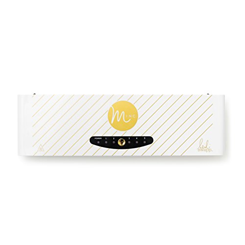 Minc Foil Application Machine Starter Kit by American Crafts | Includes machine, one transfer folder, one gold foil sheet, and three tags | US Version