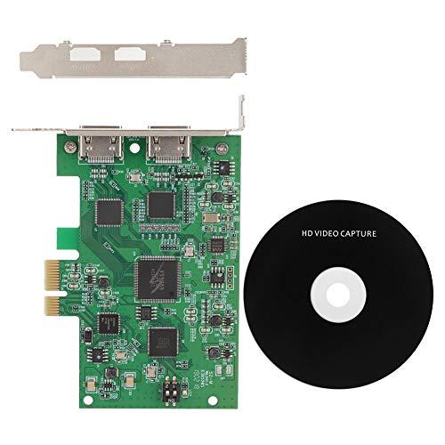 Tonysa HD Video Capture Karte 1080P 60FPS Ausgang / 4K 30P Eingang PCI-E HDMI Video Capture Live Karte für Fernunterricht, Videokonferenzen, Live Video usw.