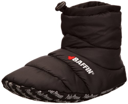 Baffin mens Cush Insulated Slipper Booty, Black, XX-Large(11-12 M US Men's)