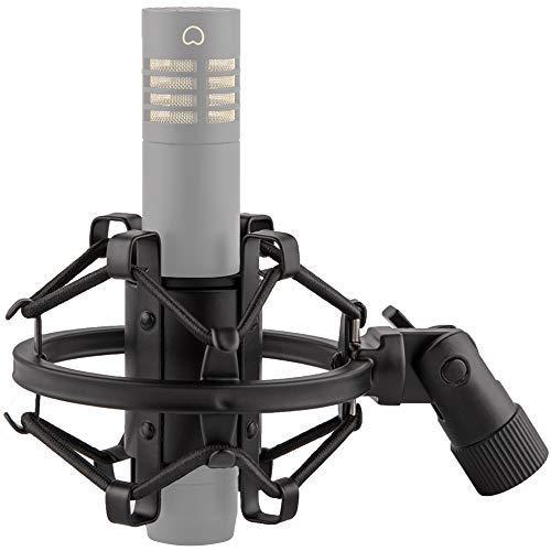LYRCRO Microphone Shock Mount for 21mm-23mm Small Diameter Size Instrument Condenser Mic or Shotgun Mic like Rode NTG-1 NTG-2