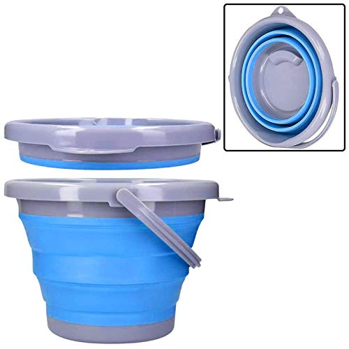Secchio Pieghevole in Silicone da 10 Litri Secchiello Inodore Portatile Acqua per Pulizie Bucato Campeggio Pesca