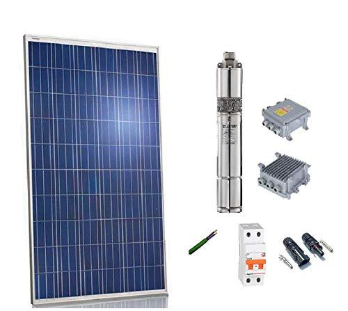 Kit solar Bombeo 300w Caudal max. 1200 Litros/hora Altura max 35 m bomba sumergible 24v